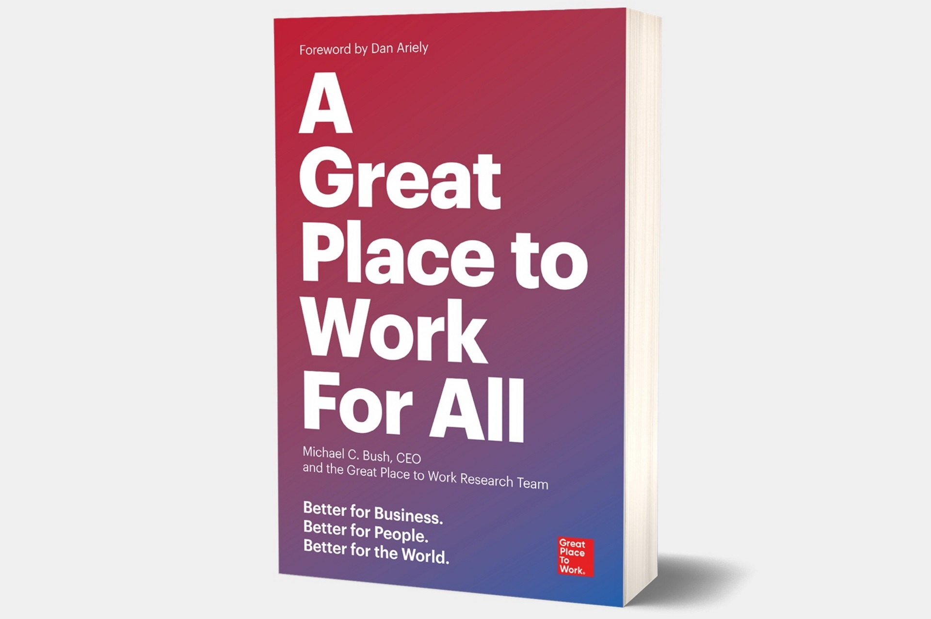 Publication du livre 'A great Place to Work for ALL : Better for Business, Better for People, Better for the World'